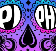 Pi Phi Sugar Skull Sticker