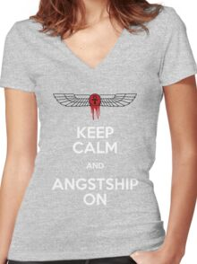 Angstshipping Women's Fitted V-Neck T-Shirt