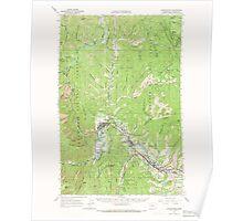 USGS Topo Map Washington State WA Leavenworth 241969 1964 62500 Poster