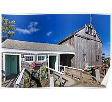 Sesuit Harbor outhouse barn Poster