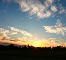 Northwoods Wisconsin Sunset by Adam Kuehl