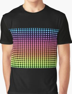 Psychedelic neon rainbow circles Graphic T-Shirt