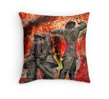 London's World War 2 Firemen Throw Pillow