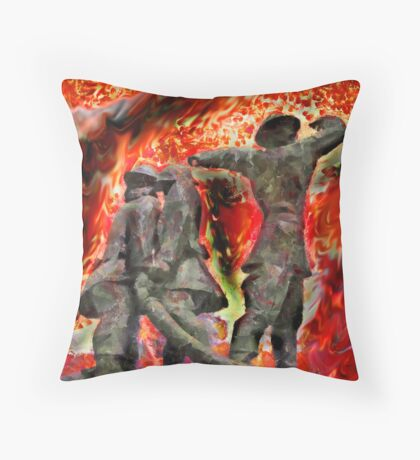 London's World War 2 Firemen Throw Pillow