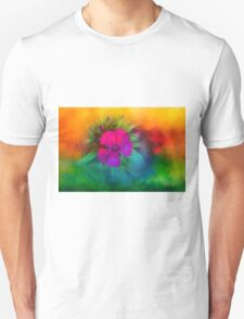 Rainbow flower,  Dedicated to Happiness T-Shirt