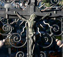 Jesus on the Cross by Tiffany Muff