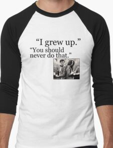 I Grew Up Men's Baseball ¾ T-Shirt