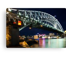 The Sydney Harbour Bridge on a starry starry night ! Canvas Print