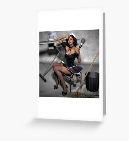 The French Maid 2 Greeting Card