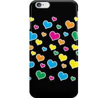 Electric neon 80s hearts iPhone Case/Skin