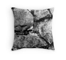 Stone faces Throw Pillow