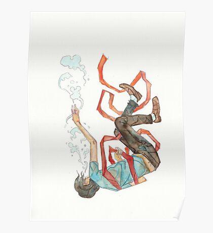 Burdened - sinking swimming ribbon  Poster