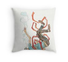 Burdened - sinking swimming ribbon  Throw Pillow