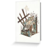 Metal and Concrete - urban decay steel construction city  Greeting Card