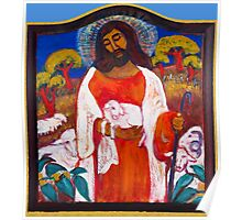 Jesus with Lamb Poster