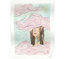 Stacking Clouds - pink clouds fashion girl Poster