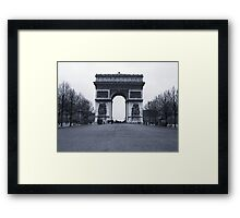 Arc de Triomphe - in 1945 Framed Print