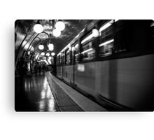 Travel BW - Paris Metro Canvas Print