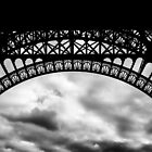 Travel BW - Paris Eiffel Tower IV by lesslinear