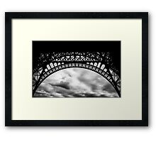 Travel BW - Paris Eiffel Tower IV Framed Print