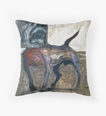 Bad Dog Throw Pillow
