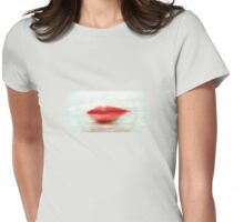 Red Lips Womens Fitted T-Shirt