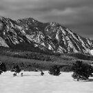 Flatirons in the Snow by Ryan Wright