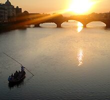 Florence Italy, on the Arno by Gregory Dyer