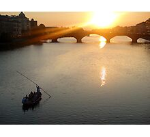 Florence Italy, on the Arno Photographic Print