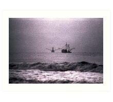 Shrimpboats  Art Print