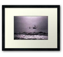 Shrimpboats  Framed Print