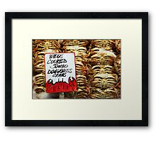 Jumbo Cooked Crabs Framed Print