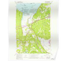 USGS Topo Map Washington State WA Nisqually 242837 1959 24000 Poster