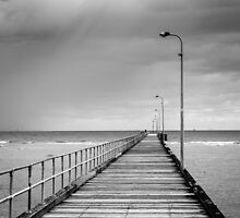 Storm Off The Pier by Joel McDonald