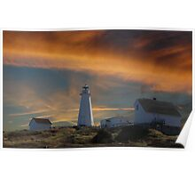 Sunset At Cape Spear Newfoundland Canada(best viewed larger) Poster