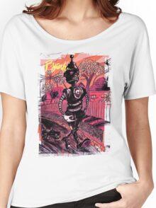 P-Yeah Robot Cat Walker  Women's Relaxed Fit T-Shirt