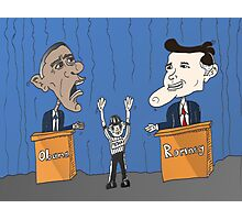 Obama Romney debate caricature Photographic Print