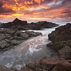 Fire and Ferocity at Hastings Point by Shelley Warbrooke