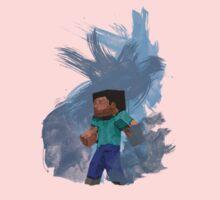 Minecraft Steve- Watercolor One Piece - Short Sleeve