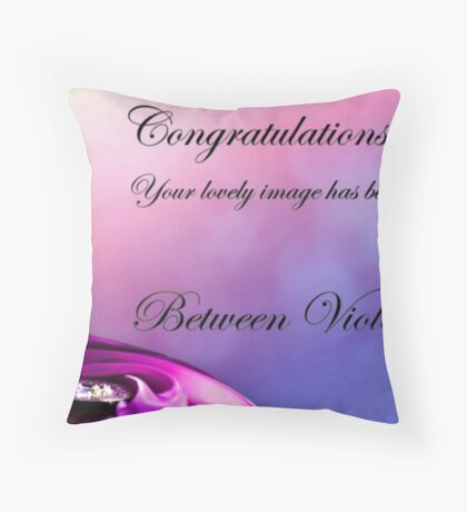 Violet & Crimson Proposed Banner Throw Pillow
