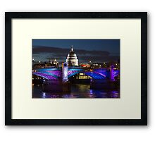 Southwark bridge and St Pauls Cathedral Framed Print