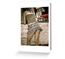 Sturgis Bike Rally One Eyed Jacks Saloon Hot Bartender 2012 Greeting Card
