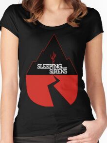 SLEEPING WITH SIRENS Tour  Women's Fitted Scoop T-Shirt