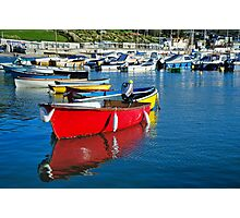 Colourful Harbour ~ Lyme Regis Photographic Print