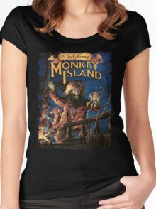 Monkey Island 2 Women's Fitted Scoop T-Shirt