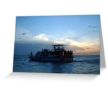 """Aruba Sunset Tour""  by Carter L. Shepard Greeting Card"