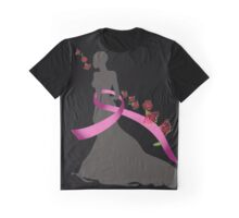 Pink Ribbon with Pohutukawa Graphic T-Shirt