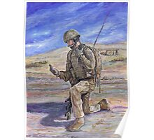 British Soldier Helmand Afghanistan Poster