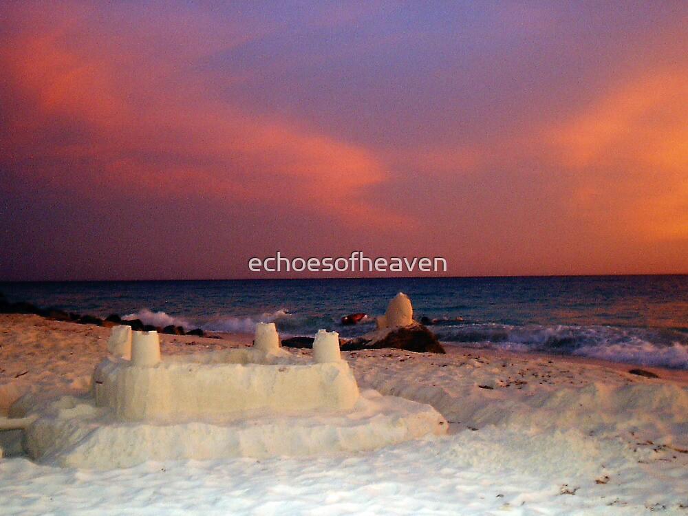 """""""Aruba Beach Sandcastle""""  by Carter L. Shepard by echoesofheaven"""