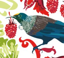 Flowers & Tui - NZ Colours Sticker